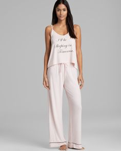 WILDFOX Pajama Set - Exclusive Sleeping In | Bloomingdale's