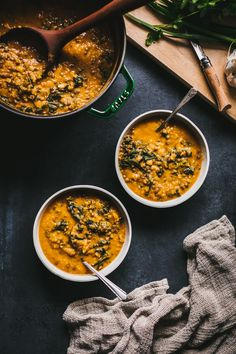 Kitchen Scraps: Golden Kale & Lentil Soup by Faring Well