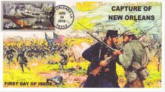 War First Day Covers | ... - 2012 CIVIL WAR CAPTURE OF NEW ORLEANS FIRST DAY COVER FDC TYPE 1 First Day Covers, One Day, Postage Stamps, Type 1, New Orleans, War, Stamps