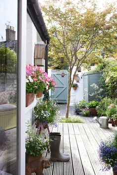A London Home Filled With Travel Finds. Small Narrow Garden IdeasSmall ...