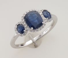 Just in!! Do you know someone that has a birthday in September? It's coming fast, so get your shopping done early with this gorgeous, new sapphire & diamond ring!