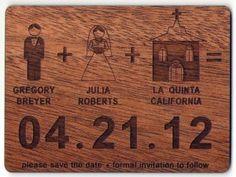 Save the Date- Bride+Groom design