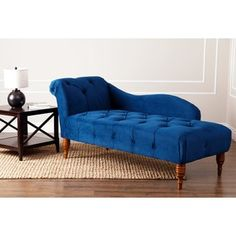 Shop for Abbyson 'Audrey' Navy Velvet Tufted Chaise. Get free shipping at Overstock.com - Your Online Furniture Outlet Store! Get 5% in rewards with Club O!