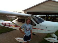 Elijah's 1st light plane flight. I think she liked it. The pic is post flight!