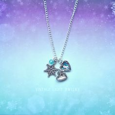 Frozen Inspired  Hand Sculpted and Crafted by VintageLightJewelry
