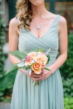 Photography : Caroline Frost Photography | Floral Design : Blade | Bridesmaids Dresses : J. Crew Read More on SMP: http://www.stylemepretty.com/2014/10/27/nyc-summer-garden-wedding-in-bryant-park/