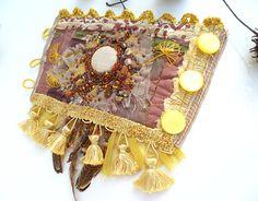 Gypsy tales VIII ooak fiber art gypsy bohemian cuff by Cesart64, $109.00