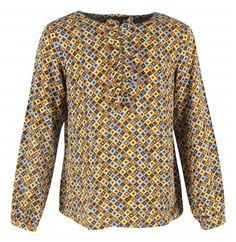 JBC - Kleurrijke blouse met ruche