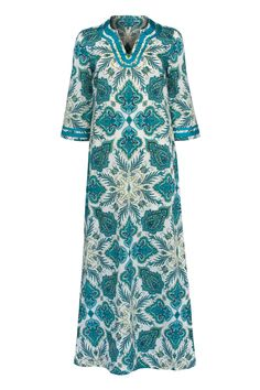 The gorgeous Talitha Kaftan Maxi Dress in Lord Paisley Liberty Print is the perfect holiday dress.