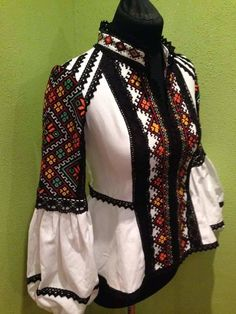 Ukraine, from Iryna Folk Fashion, Fashion Fabric, Ethnic Fashion, Hijab Fashion, Diy Fashion, Fashion Outfits, Womens Fashion, Fashion Design, Embroidery Fashion