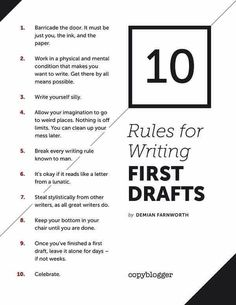 Tips for completing your first draft
