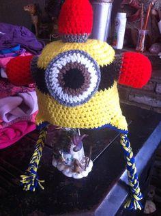 Adult Sized Be Do Minion Crochet Hat