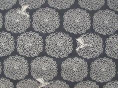 Birds & Blossoms Organic Cotton - Navy