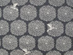 Birds & Blossoms Organic Cotton - Navy