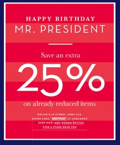President's Day Sales!