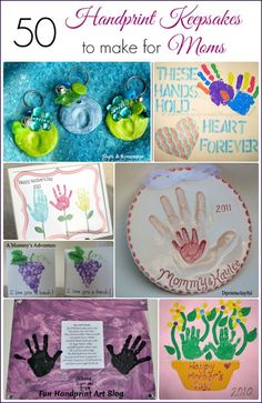 50 Handprint Keepsakes to make for Moms #HandprintHolidays