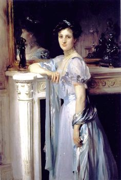John Singer Sargent (American expatriate artist, 1856-1925) Mrs. Louis Raphael  It's About Time