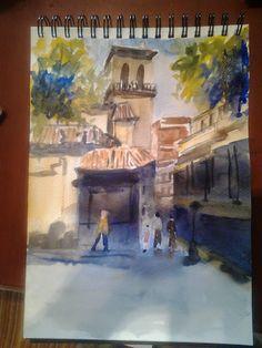 Pintar acuarelas: Iglesia de San Hipólito