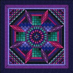A new form of Chevron using half rectangles from layer cakes ... : 3d quilt designs - Adamdwight.com