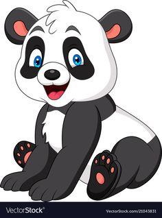 Cute panda cartoon vector image on VectorStock Cartoon Cartoon, Cute Panda Cartoon, Cartoon Images, Cartoon Drawings, Cute Drawings, Animal Drawings, Cartoon Wallpaper, Niedlicher Panda, Baby Animals