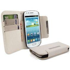 iTALKonline NERO Esecutivo Portafoglio Custodia Cover Coperchio con Carta di Credito / Porta Biglietti Per Samsung i8190 Galaxy S3 Mini