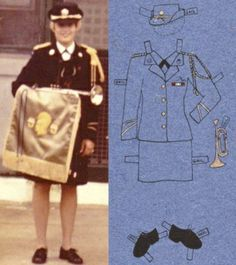 Real military uniforms become paper-doll attire | The Columbus Dispatch: An art project explores the cultural significance of women's military uniforms at a time when women's combat roles are increasing after a decade of war.