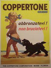 COPPERTONE Abbronzatevi non Bruciatevi crema abbronzante manif. TELATO originale