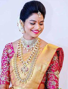 Stunning Blouse Designs With Stonework - Buy lehenga choli online Wedding Saree Blouse Designs, Pattu Saree Blouse Designs, Blouse Designs Silk, Blouse Patterns, Bridal Silk Saree, Saree Wedding, Wedding Bride, Floral Wedding, Wedding Hair