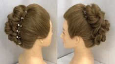 wedding hairstyles videos 2 Easy Bun Hairstyles with Trick for Wedding amp; Boho Updo Hairstyles, Updo Hairstyles Tutorials, Engagement Hairstyles, Wedding Bun Hairstyles, Bun Hairstyles For Long Hair, Party Hairstyles, Wedding Updo, Hair Tutorials For Medium Hair, Medium Hair Styles