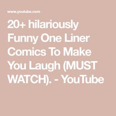 20+ hilariously Funny One Liner Comics To Make You Laugh (MUST WATCH). - YouTube