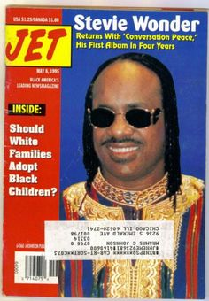 Stevie Wonder, Jet Magazine 08 May 1995 Cover Photo - United States