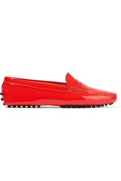 Tod's - Gommino Patent-leather Loafers - Tomato red - IT