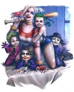Harley & Jokers  Art by SpiderWee