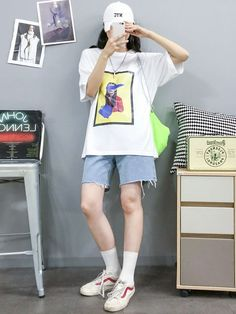 15 boyish outfits looking nice for today's fashion page 12 Korean Girl Fashion, Korean Fashion Trends, Ulzzang Fashion, Korean Street Fashion, Korea Fashion, Tomboy Fashion, Asian Fashion, Look Fashion, Korean Fashion Shorts