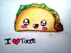 How to draw kawaii food~ Taco - YouTube