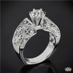 """""""Elegant Petals"""" Diamond Engagement Ring"""