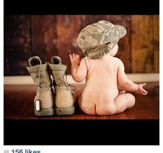 Military baby in love can't wait to have a baby so I can do this