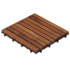 Bare Decor EZ-Floor Interlocking Flooring Tiles in Solid Teak Wood Oiled Finish (Set of Long 9 Slat Acacia Wood Flooring, Cheap Wood Flooring, Hardwood Floors, Flooring Tiles, Balcony Flooring, Outdoor Flooring, Wood Planks, Wood Deck Tiles, Ikea Deck Tiles