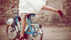 bride + bicycle
