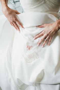 Pretty embroidery: http://www.stylemepretty.com/little-black-book-blog/2015/03/24/rustic-italian-olive-branch-winery-wedding/ | Photography: Onelove - http://www.onelove-photo.com/
