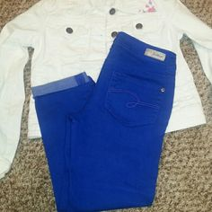 FINAL PRICE! Girls Justice denim capris Girls Justice blue denim capris in great condition. Justice Jeans