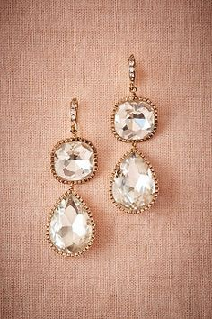 Lille Drop Earrings by BHLDN   ||  Perfect Wedding or Bridesmaid Earring   ||  Follow @KWHBridal