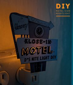 DIY Project: Motel Sign Night Light - Design*Sponge