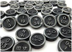 Vintage Transogram Black Bingo Number Discs by JoyousVintage, $8.00