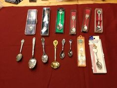 Lot Of 14 Antique Vintage Collectors Spoons $12.99 OBO
