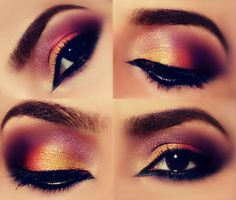 Colorful Arabic Makeup http://www.makeupbee.com/look.php?look_id=81635
