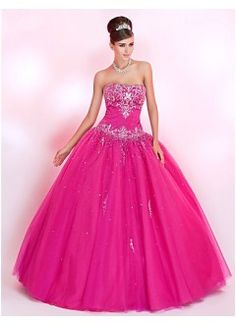 Brilliant Ball Gown Sweetheart Floor-length Tulle with Embroidery Prom Dress