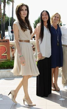 Angelina Jolie in Ferragamo, Cannes Film Festival 2011 (in the process of making a navy version of this.-mds)