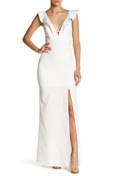 Image of Soieblu Ruffle Maxi Dress