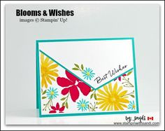 Today's Card Share is created with the Blooms and Wishes stamp set from Stampin Up. Stampin with Sandi, Sandi MacIver, Stampin Up, Canadian Stampin Up Demonstrator, Stampin Up Card ideas